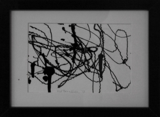 Olíuteikning / Oil drawing