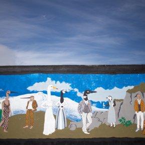 Fuglafans, mural
